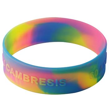 Embossed Wristbands-Swirl-3/4 Inch