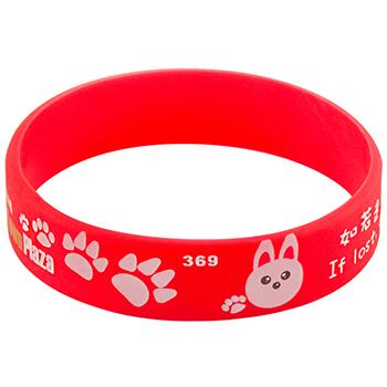 Rubber Bracelet Maker Online- Solid – 1/2 Inch – Printed