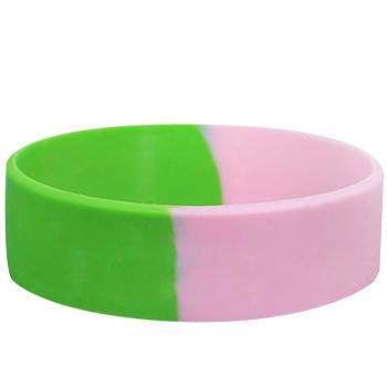 Custom Silicone Bracelets-Segmented-Blank-3/4 Inch