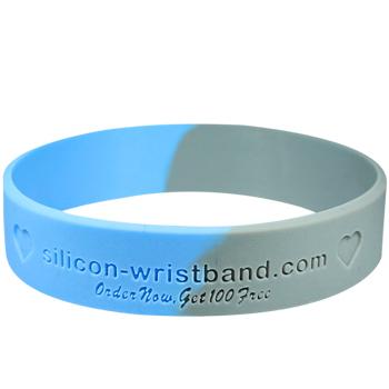 Custom Silicone Wristbands-Debossed-Segmented-3/5 Inch