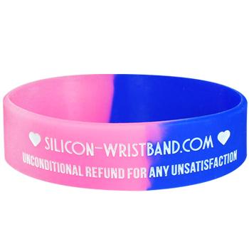 Custom Wristbands Cheap-Segmented-Colorfilled-3/4 Inch