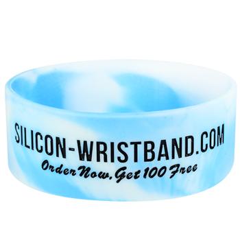 Rubber Bracelets Custom-Swirl-1 Inch-Colorfilled