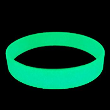 Blank Wristbands-Glow-1/2 Inch