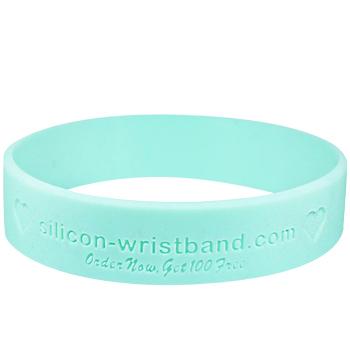 15mm debossed wristband