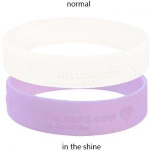 Custom Silicone Bracelets-3/5 Inch-embossed-UV