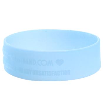 Custom Silicone Bracelets-3/5 Inch-Debossed-UV