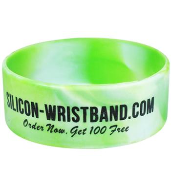 Customized Rubber Bracelets-Printed-Swirl-1 Inch
