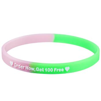 Customizable Bracelets-Segmented-1/4 Inch-Embossed Printed