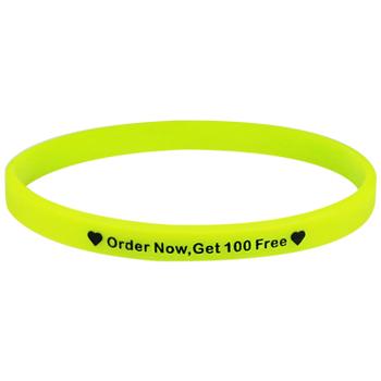 nouvelle version prix fou tout à fait stylé Personalized Rubber Bracelets Bulk-Solid-Printed-1/4 Inch