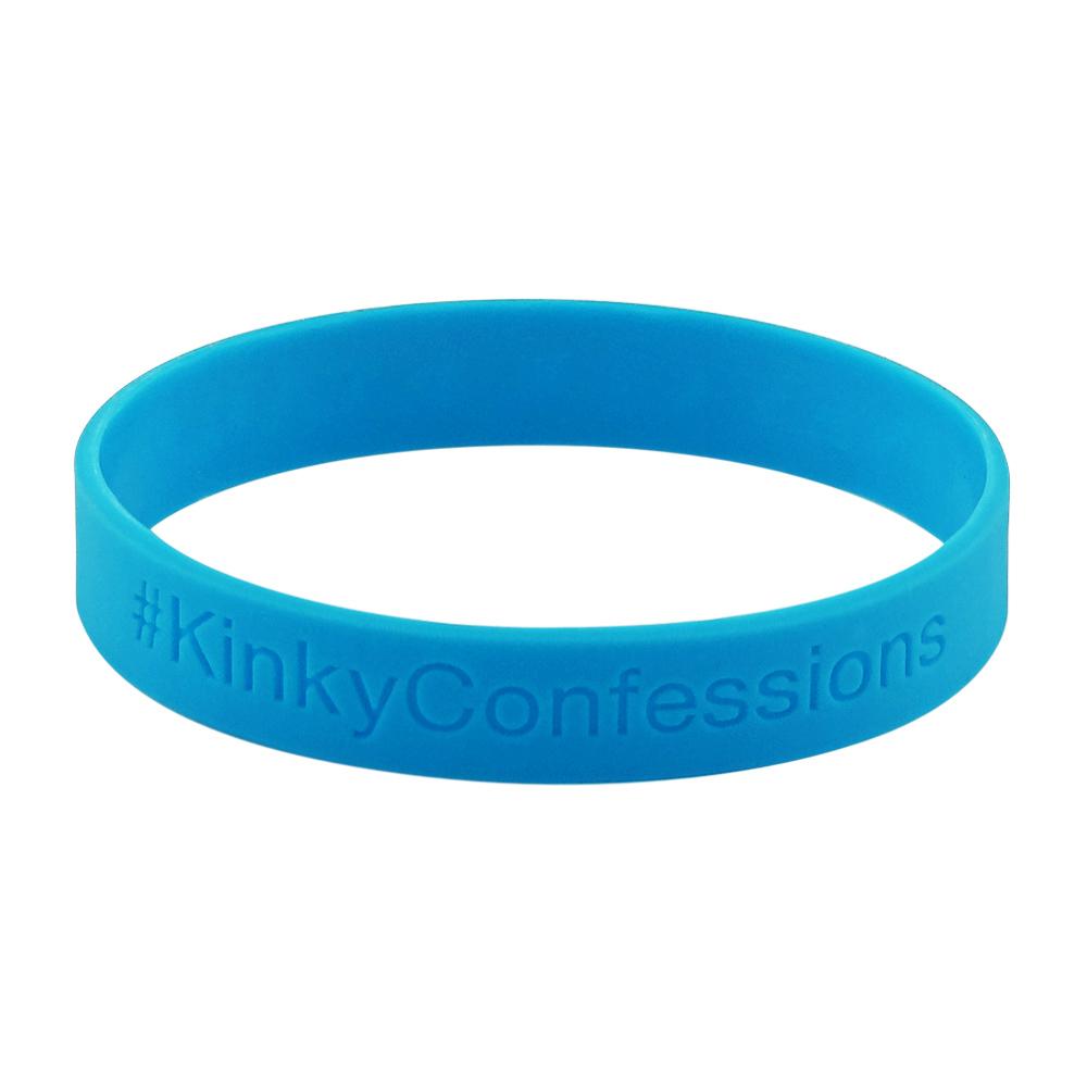 Rubber bracelets for kids – Debossed – Solid – 1/2 Inch